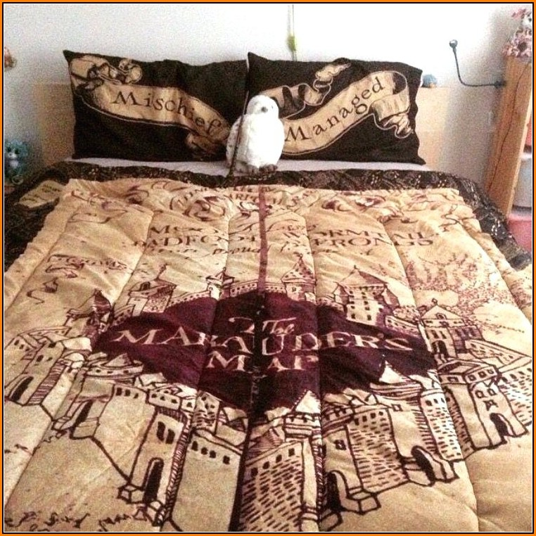 Harry Potter Marauders Map Bedding
