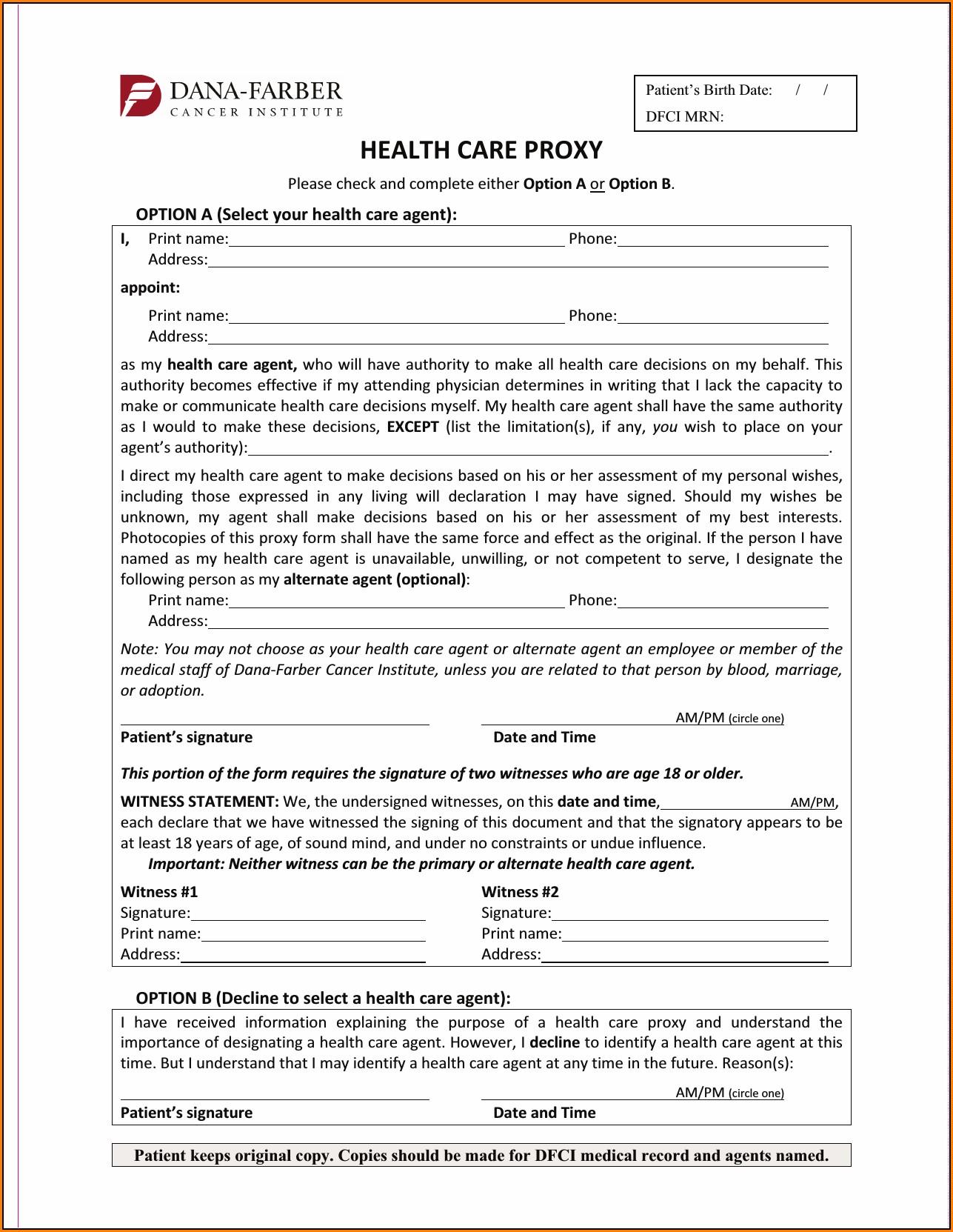 Health Care Surrogate Form Florida Bar