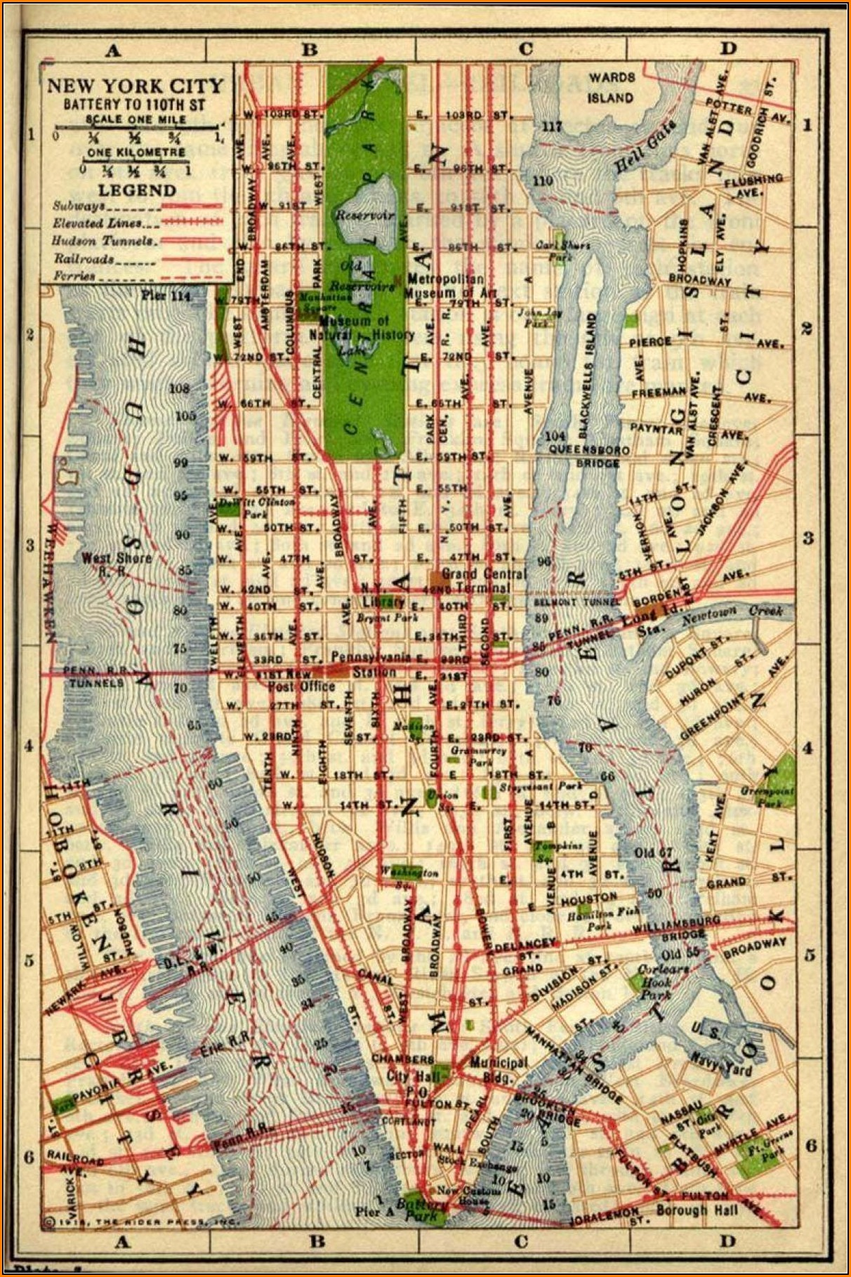 Historical Maps Of Manhattan