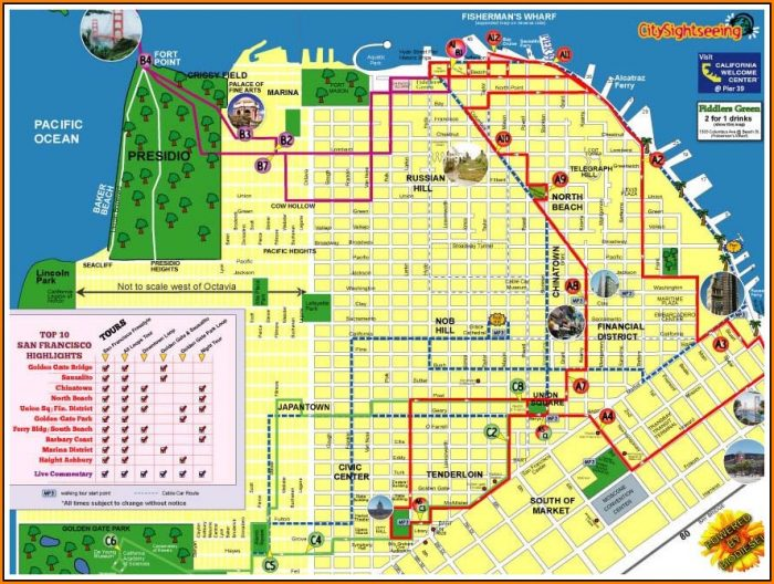 Hop On Hop Off Bus San Francisco Map