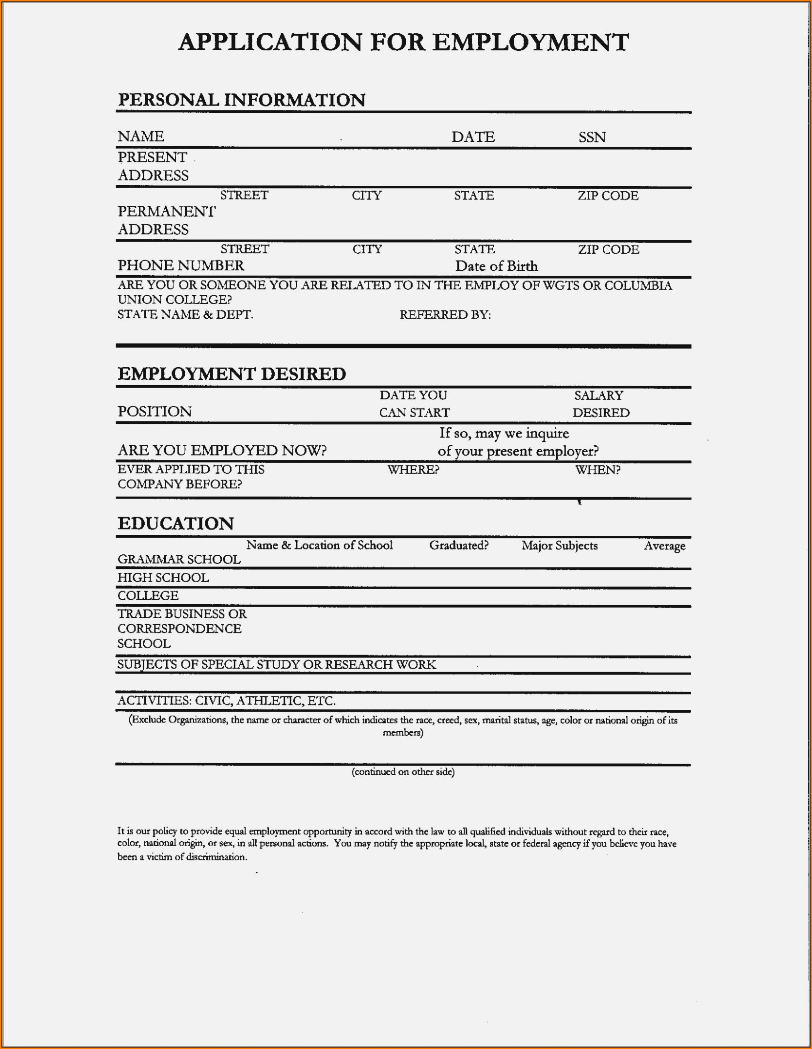 How To Fill Out A Resume For A Job