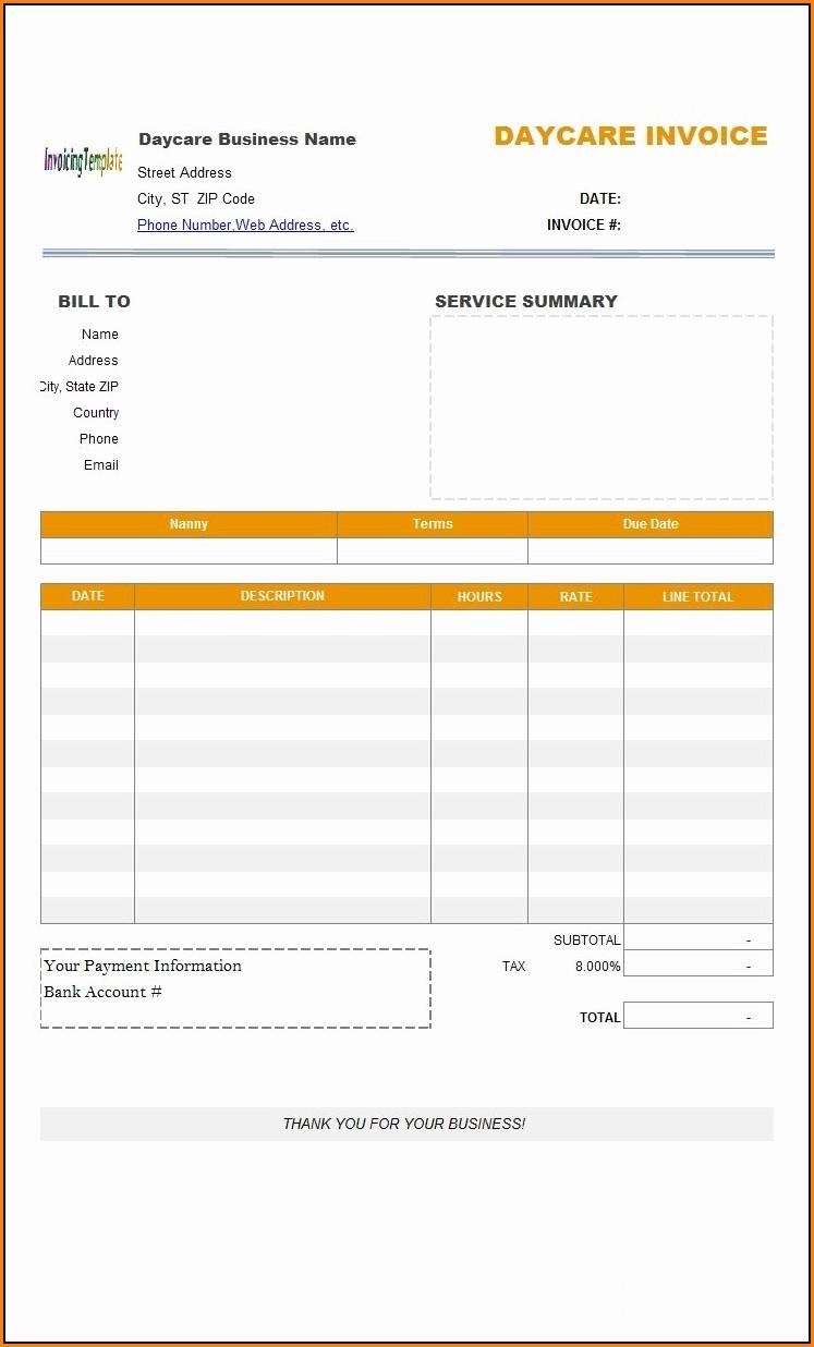 Invoice Template Docx India