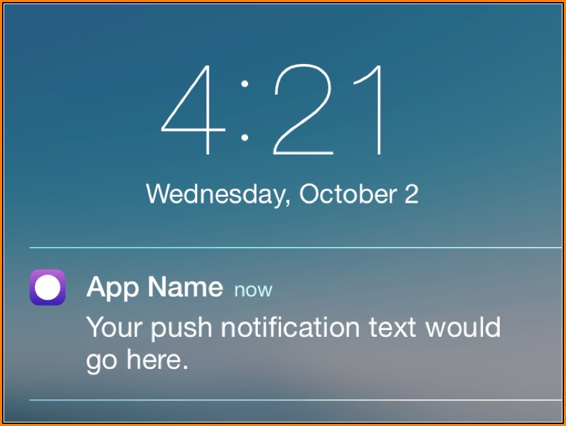 Iphone Push Notification Template