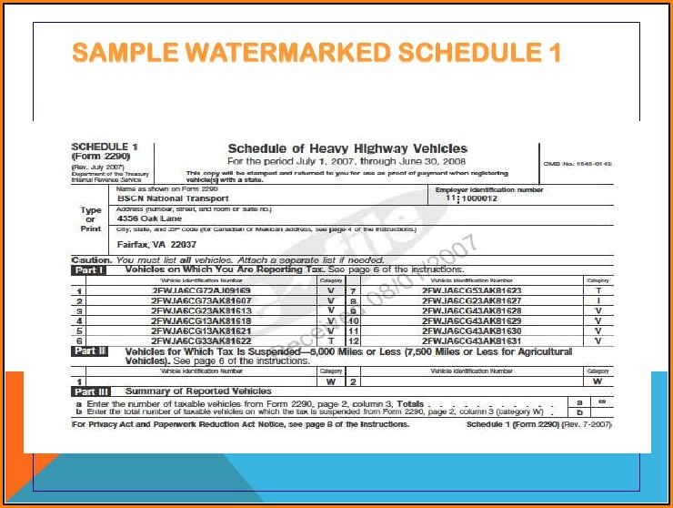 Irs 2290 Form E File