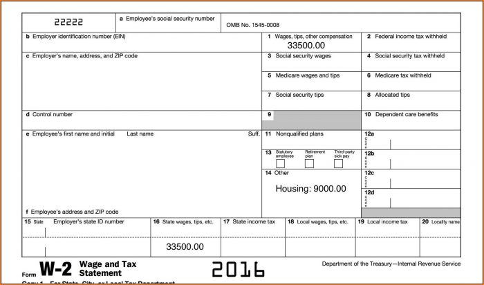 Irs W2 Forms 2016