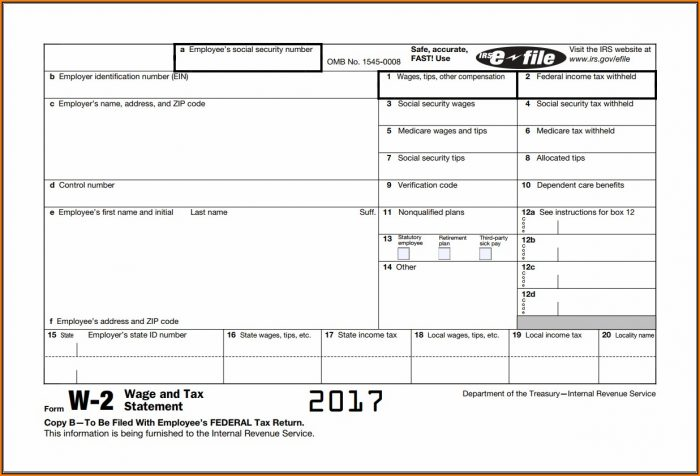 Irs W2 Forms 2018