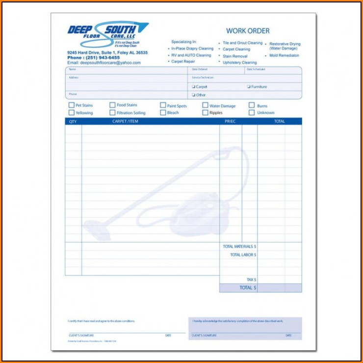 Janitorial Invoice Template Free