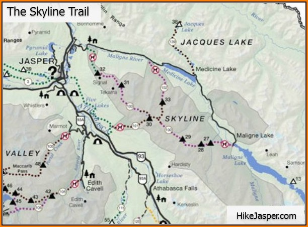 Jasper Hiking Map