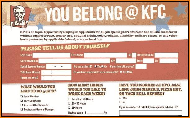 Job Application Kfc