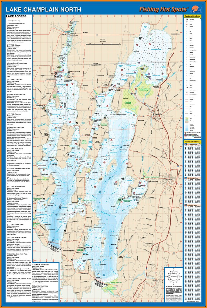 Lake Champlain Fishing Map