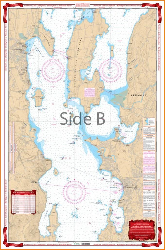 Lake Champlain Water Depth Map