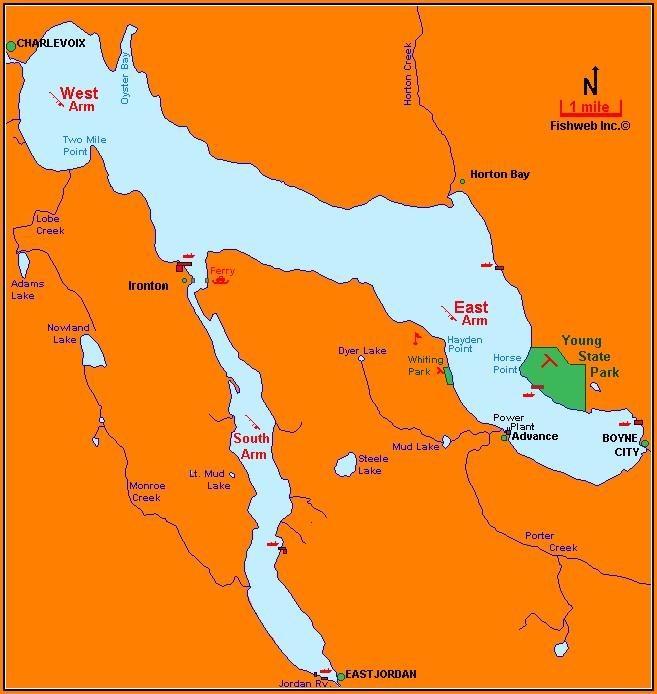 Lake Charlevoix Map