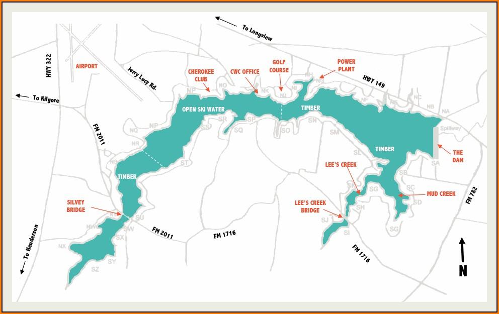 Lake Cherokee Lot Map