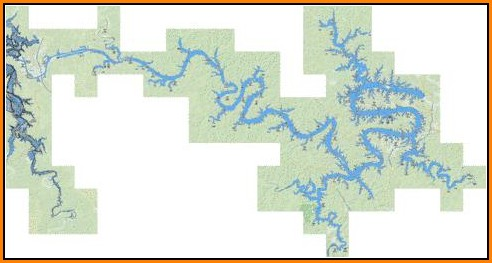 Lake Of The Ozarks Fishing Map
