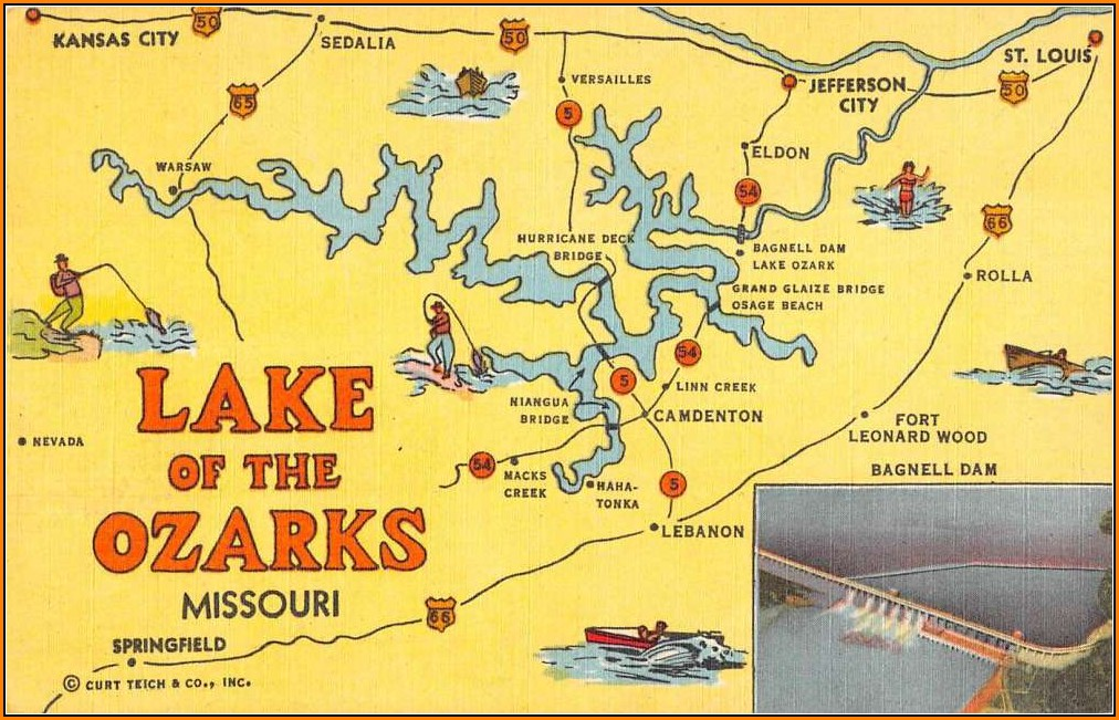 Lake Of The Ozarks Missouri Map