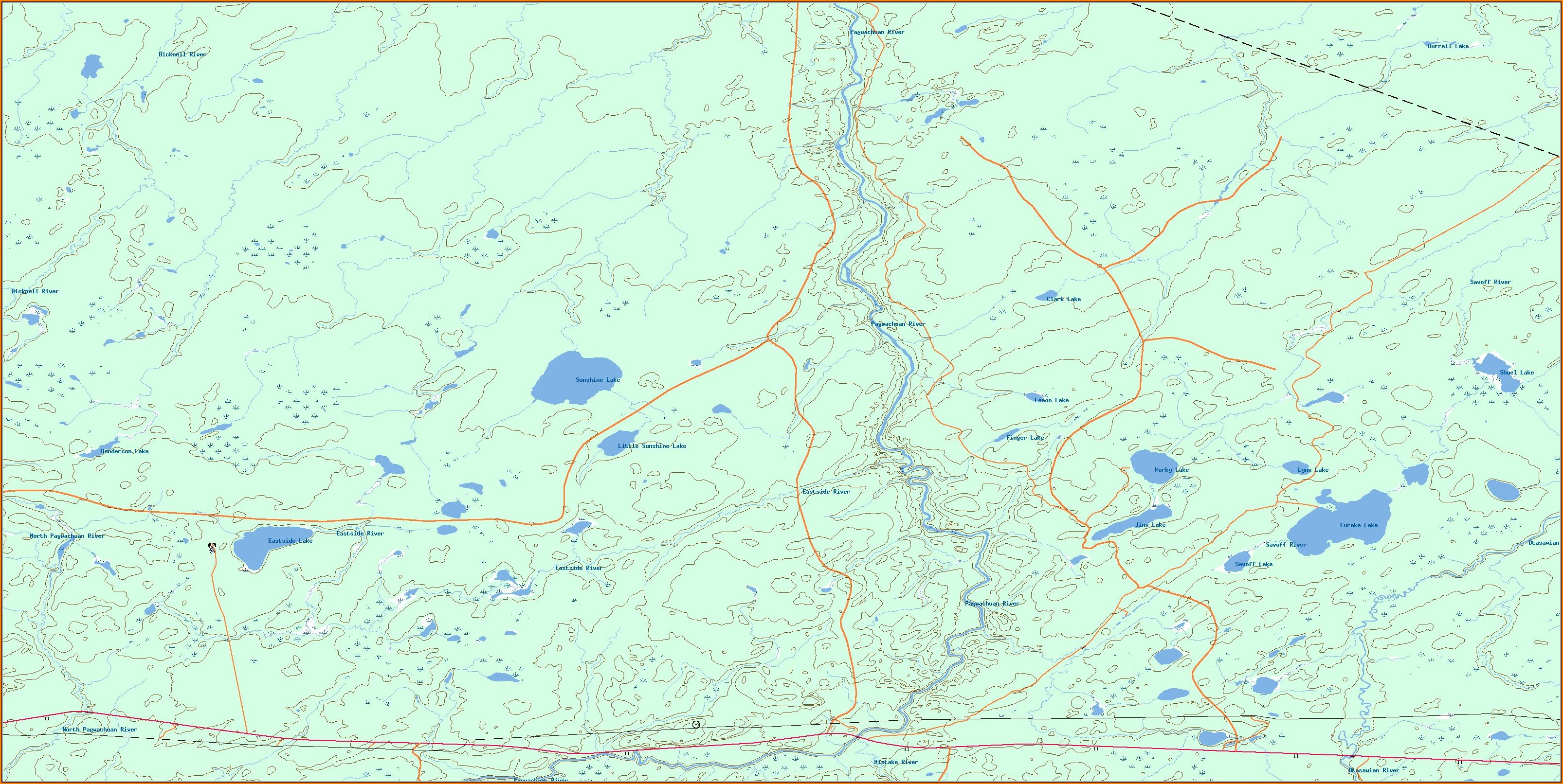 Lake Topo Maps Free