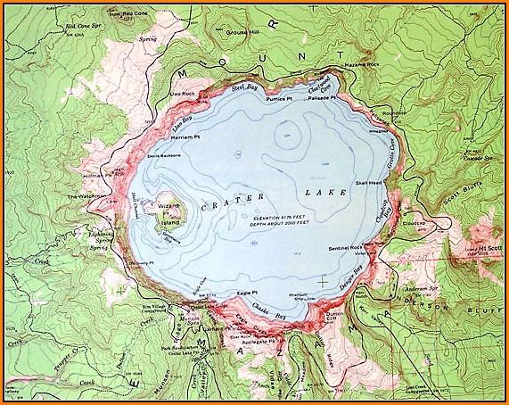 Lake Topo Maps