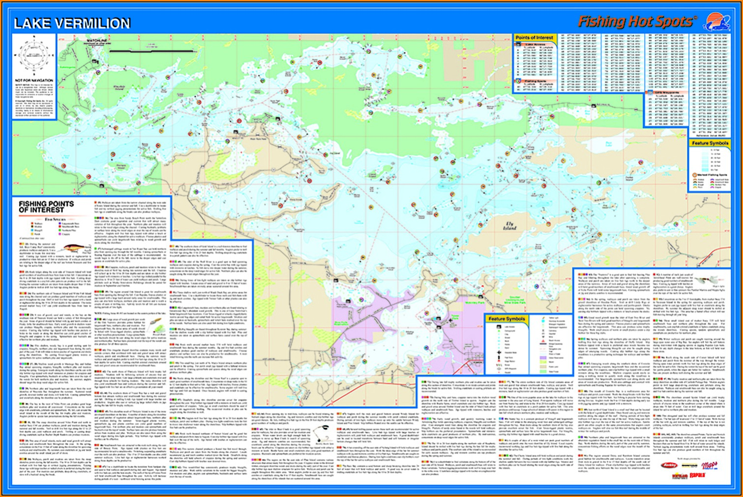 Lake Vermilion Fishing Map
