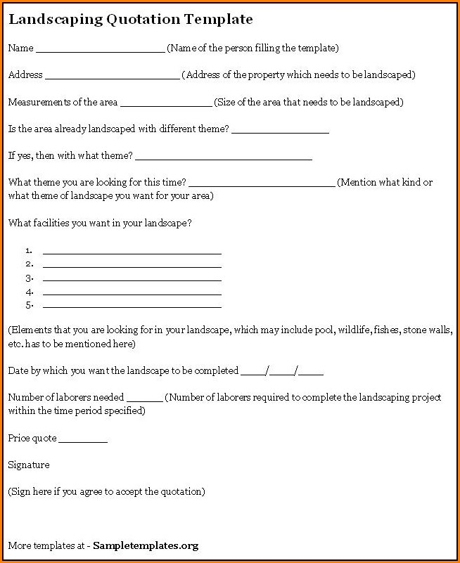 Landscaping Contract Template Free