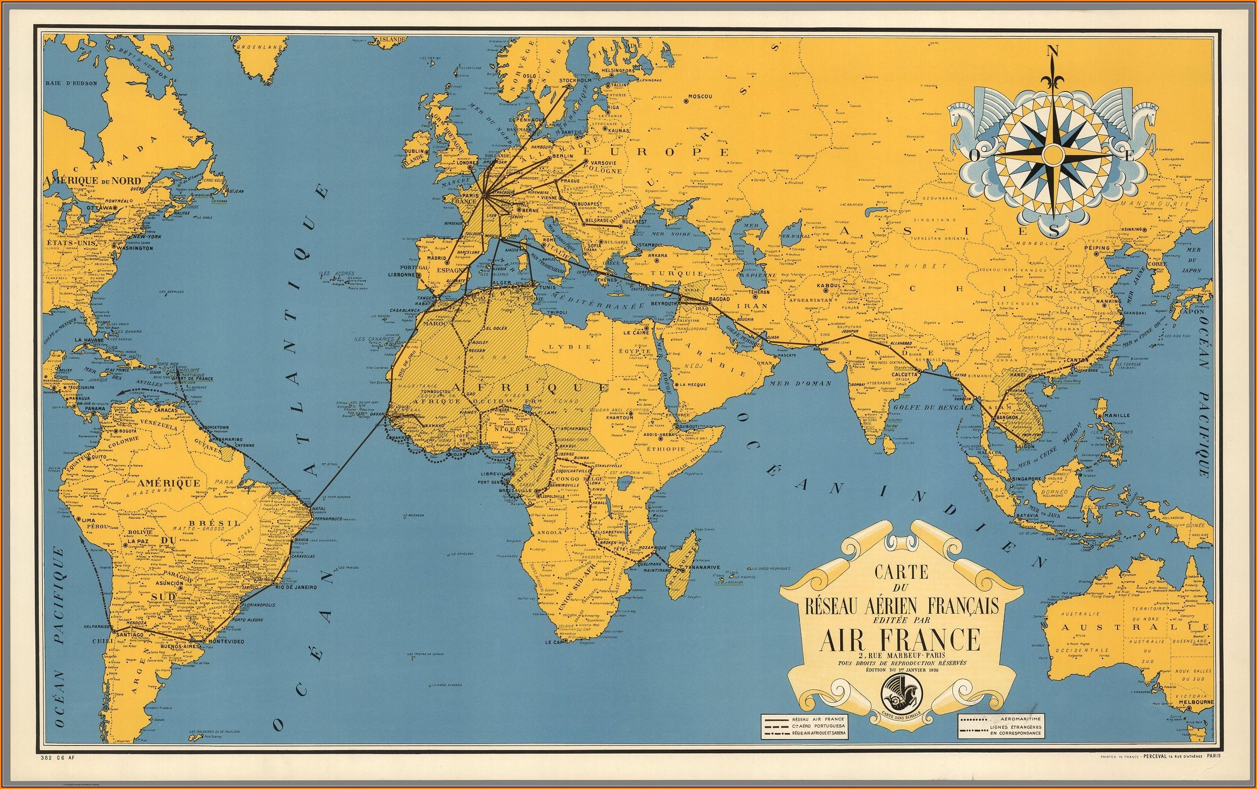 Large Printable World Map Free