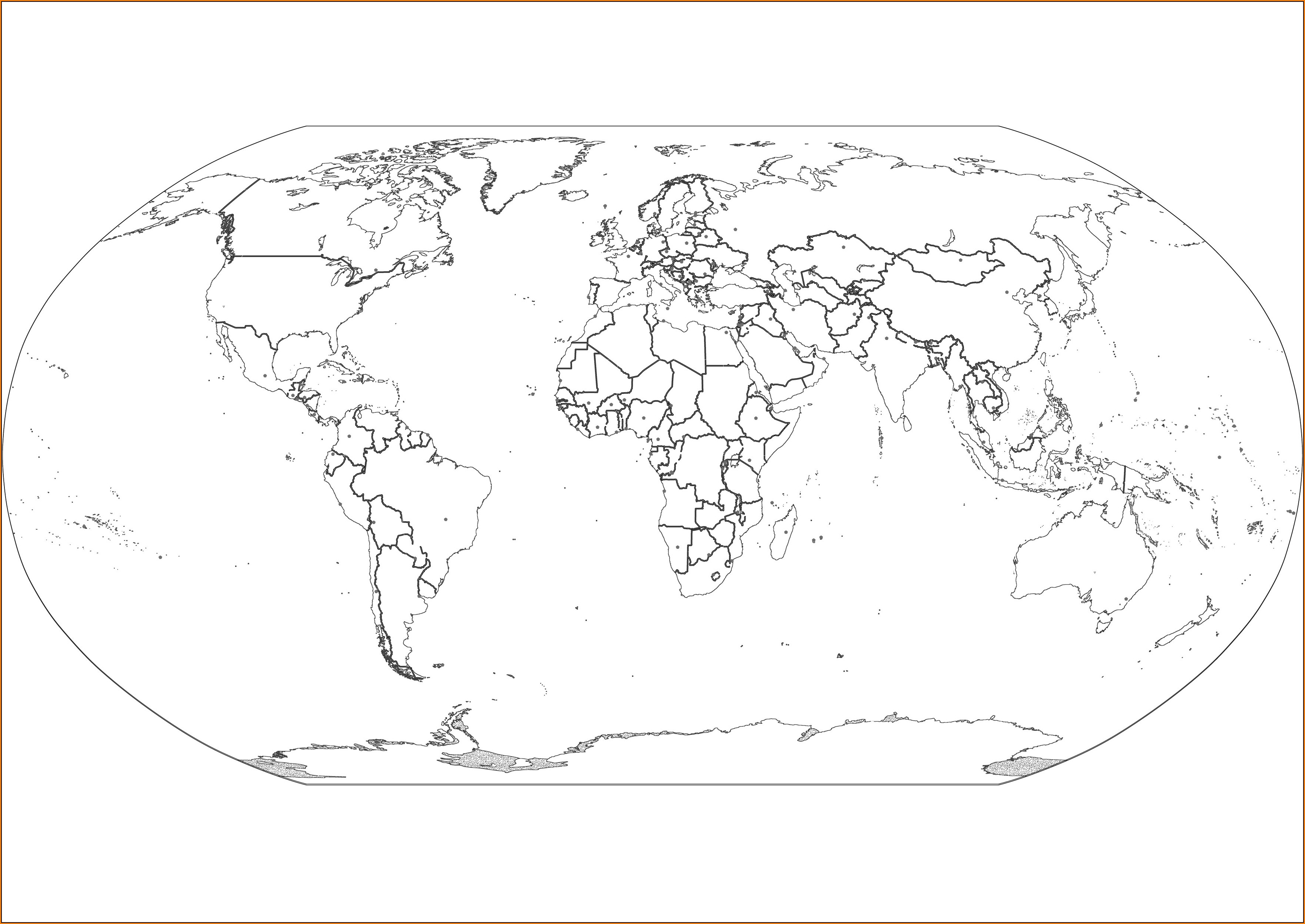 Large Printable World Map Template
