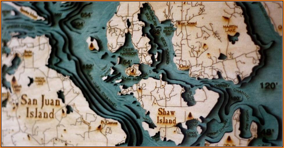 Laser Cut Topographic Maps