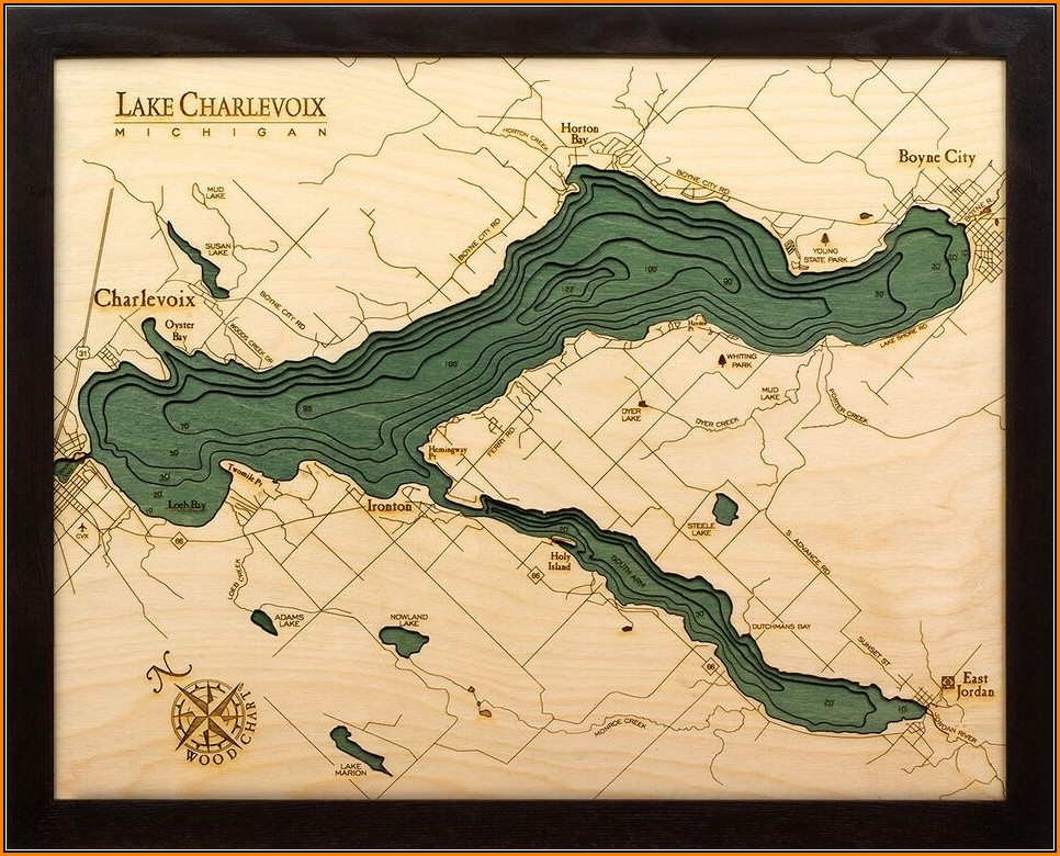 Laser Cut Wood Maps Topography