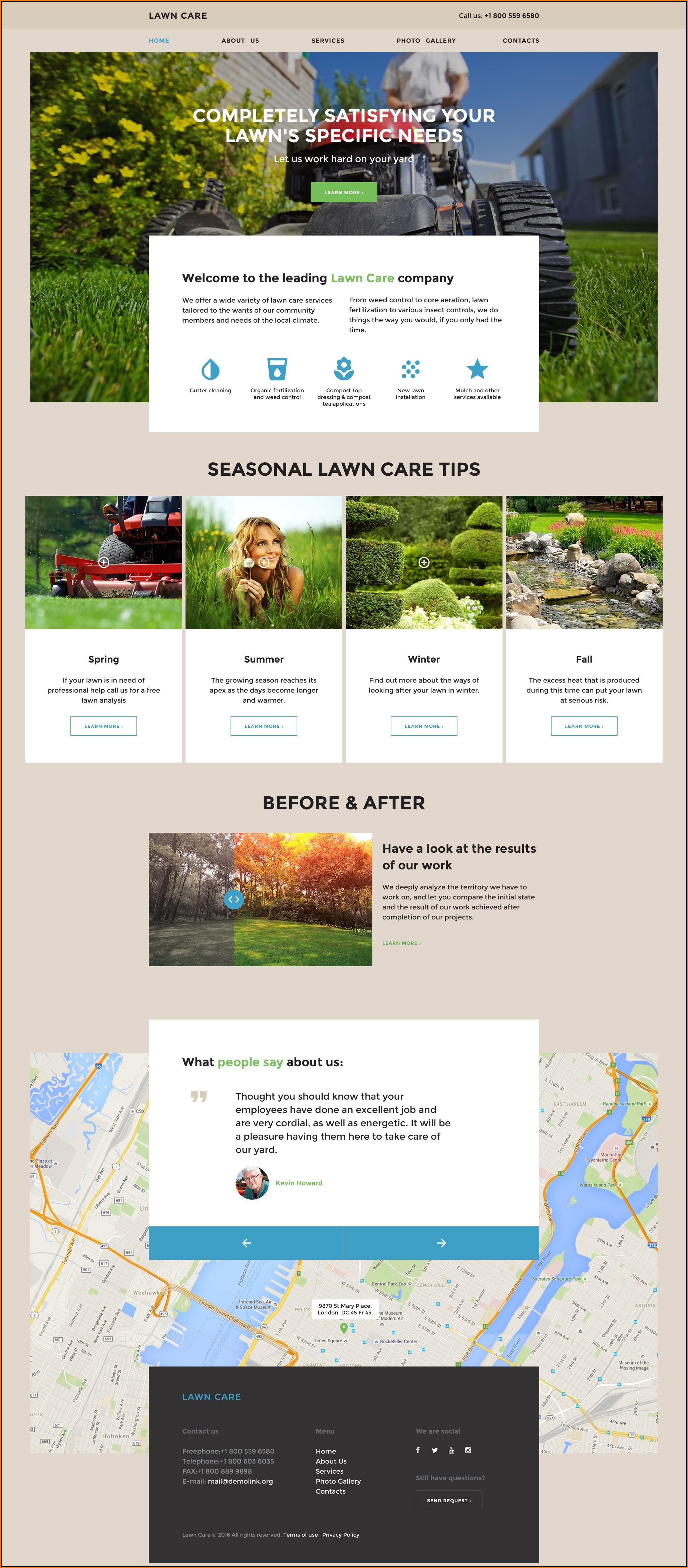 Lawn Care Website Template