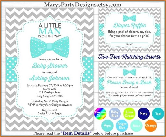 Little Man Baby Shower Invitation Templates Free