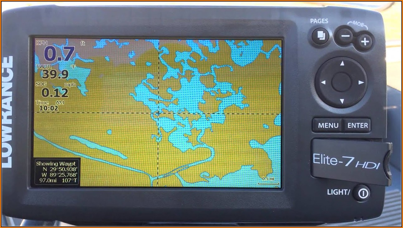 Lowrance Map Card