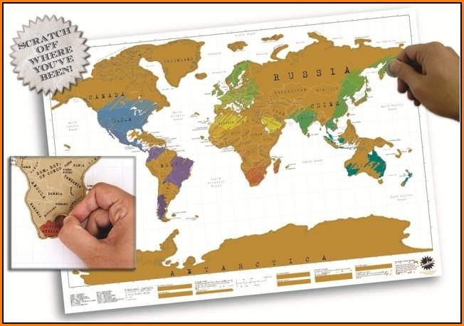 Luckies Scratch Map Australia