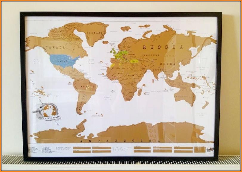 Luckies Scratch Map Frame