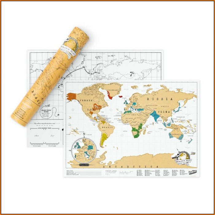 Luckies Scratch Map Original