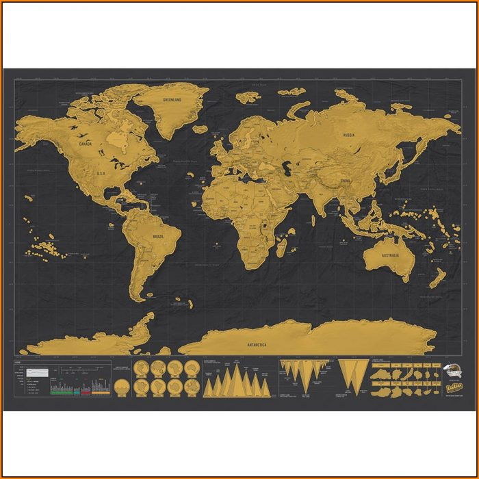 Luckies Scratch Map Poster