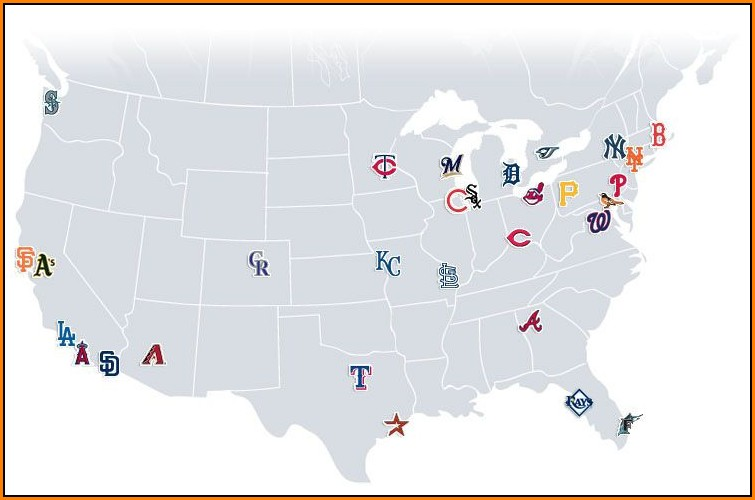 Major League Baseball Stadiums Map