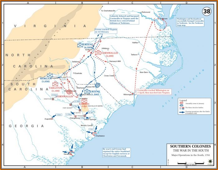 Map Of Civil War Battlefields In South Carolina