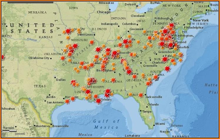Map Of Civil War Battlefields