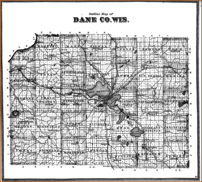 Map Of Dane County Townships