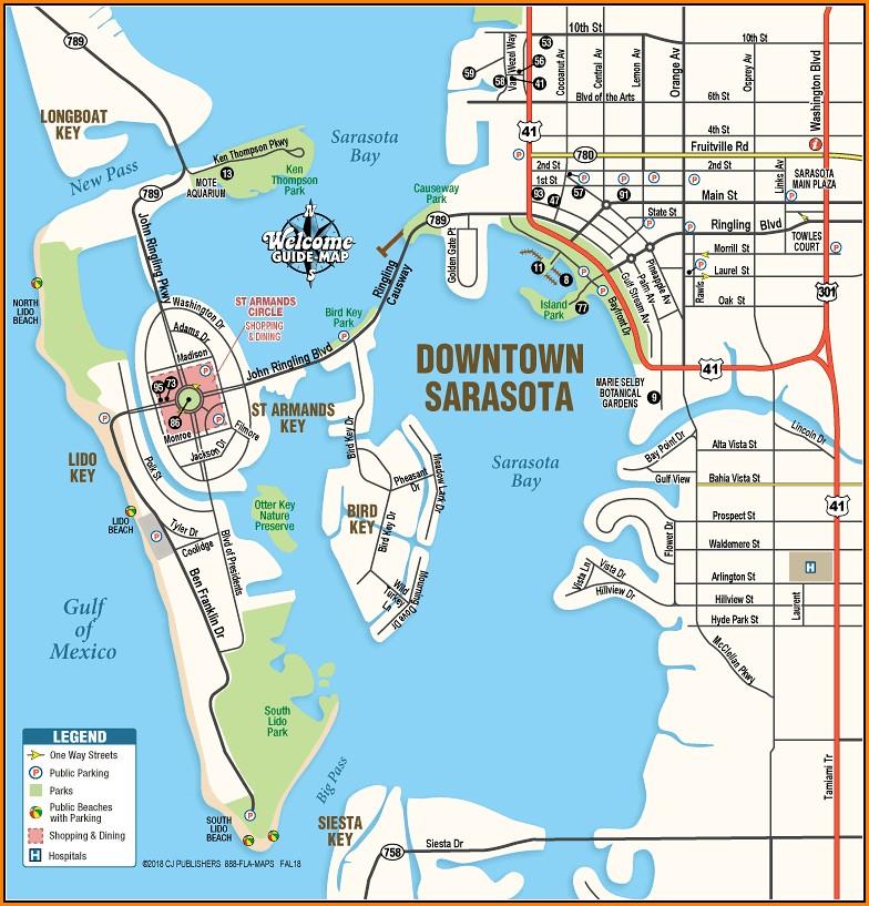 Map Of Downtown Sarasota