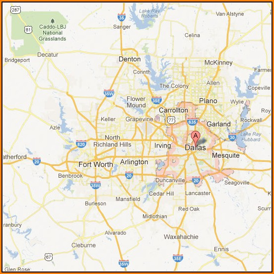 Map Of Greater Dallas Area