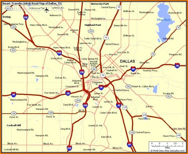Map Of Greater Dallas Tx