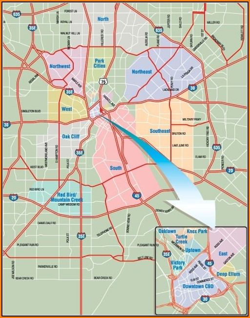 Map Of Greater Dallas