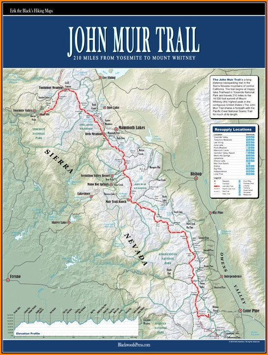 Map Of John Muir Trail