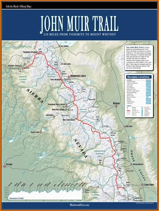 Map Of John Muir Trail