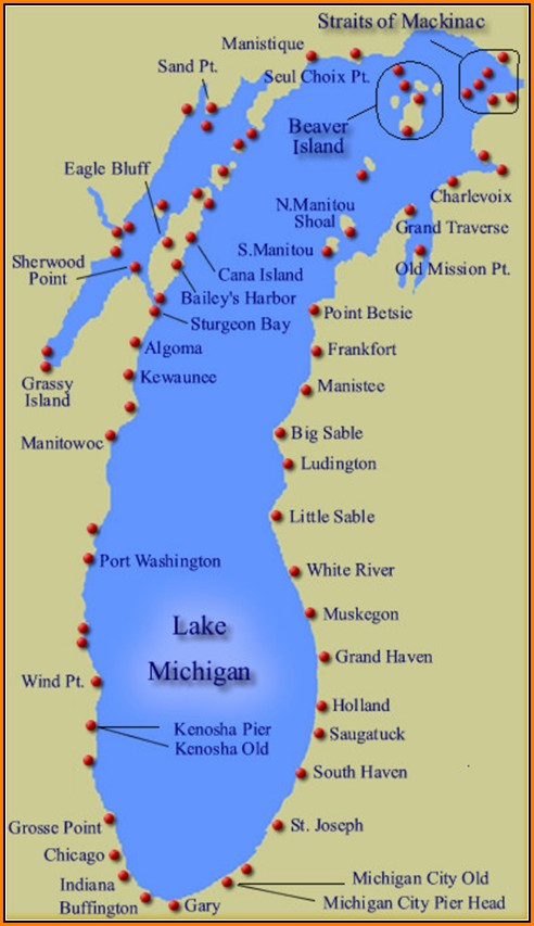 Map Of Lake Michigan Shoreline