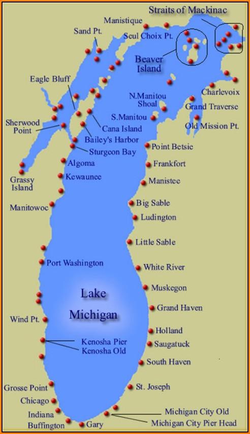 Map Of Lake Michigan Shoreline