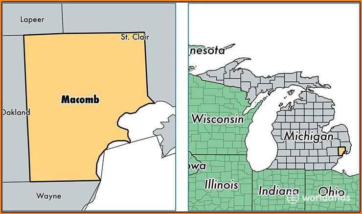 Map Of Macomb County Michigan
