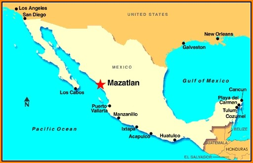 Map Of Mazatlan Mexico Resorts