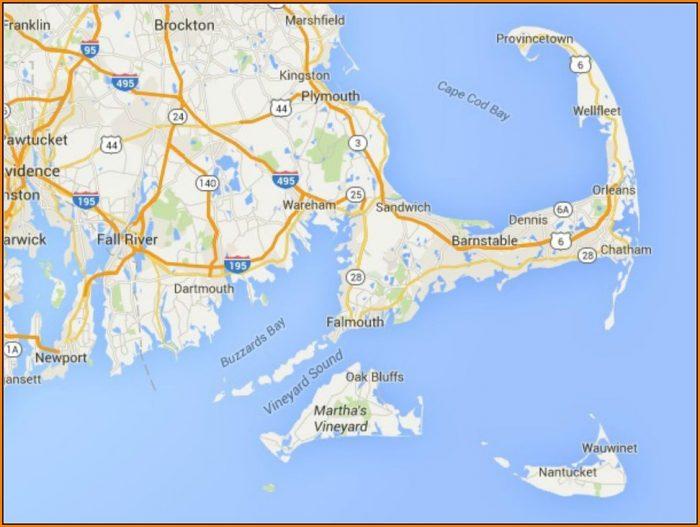 Map Of Nantucket And Martha's Vineyard