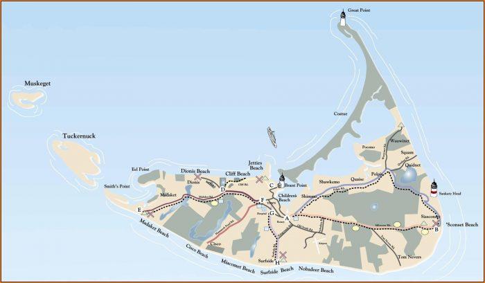 Map Of Nantucket Massachusetts